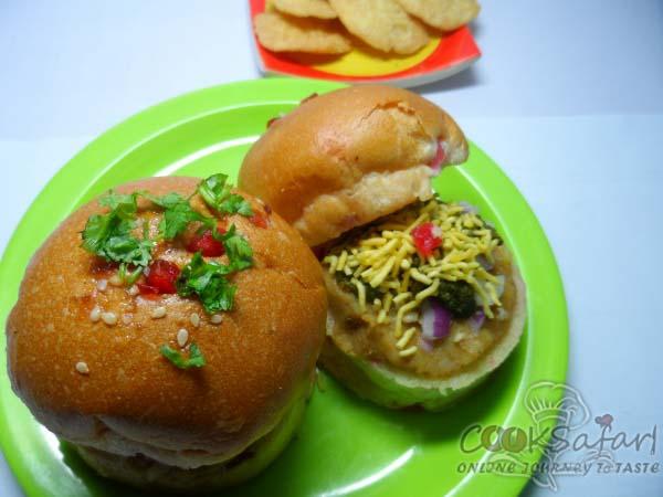 Burger Bun Chaat Recipe
