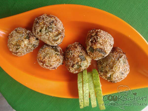 capsicum and onion balls recipe