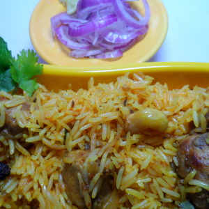 chicken pulao photo