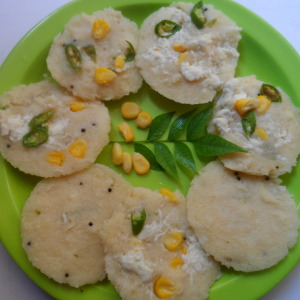 Sweetcorn paneer idli recipe