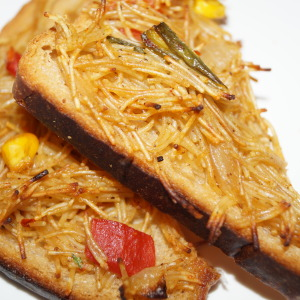 hot spicy vermicilli toast