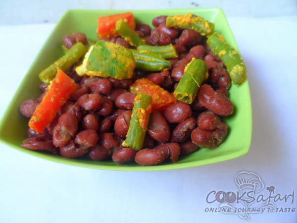 Kidney Beans With Vegetables Recipe