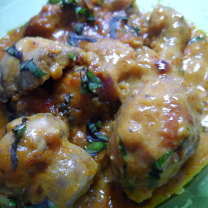 low fat coconut chicken photo