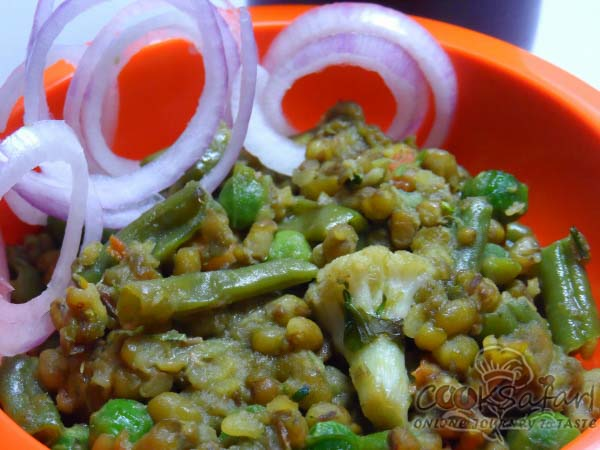 Moong Beans With Vegetables Recipe