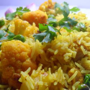 vegetable pulao photo
