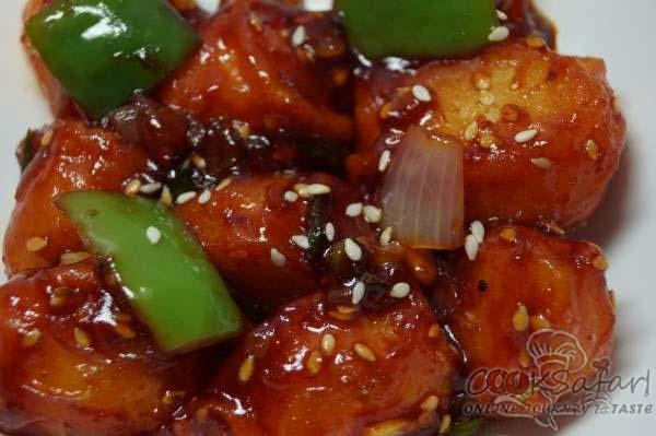 Honey Chilli Potatoes