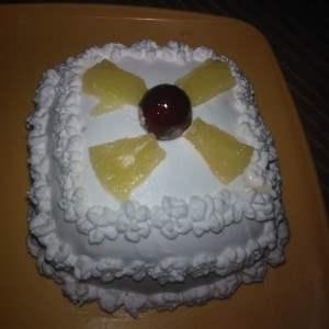 Eggless pine apple cake