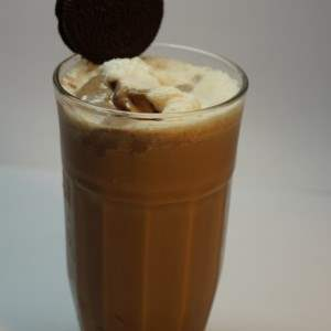 chocolate almond coffe frap