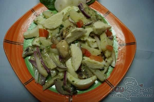 egg and mushroom salad