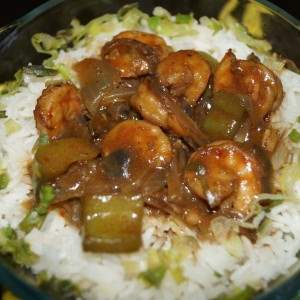 pot prawn rice