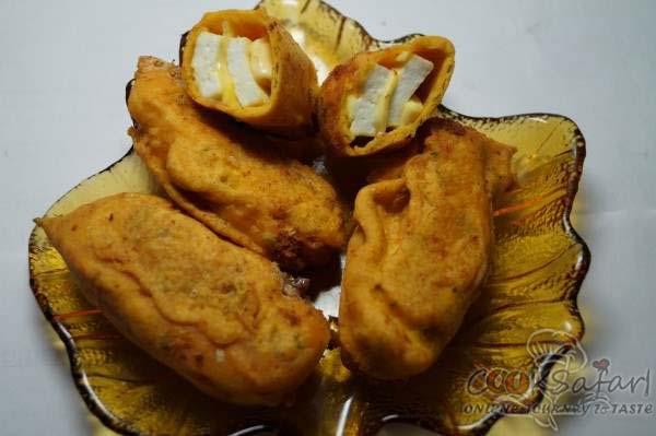 spicy cheesy paneer bonda recipe