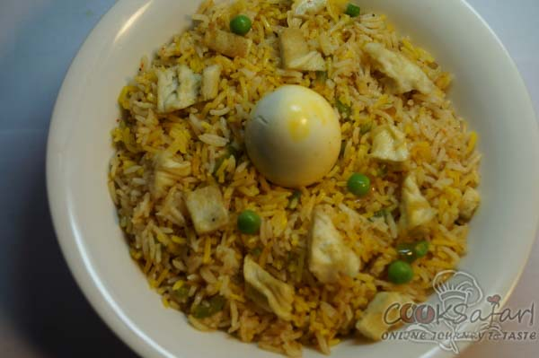 Spicy Egg Pulao