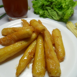 Baby Corns with Lemon Sauce