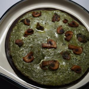 Palak Mushroom Omelette Recipe