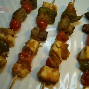 spicy paneer mushroom kebab recipe