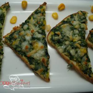 Creamy Spinach Toast Recipe