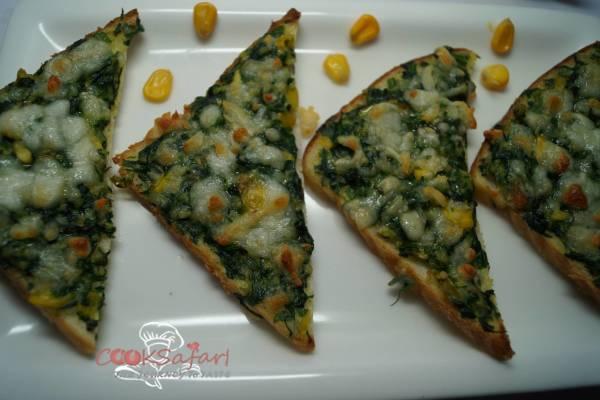 Creamy Spinach Toast Recipe