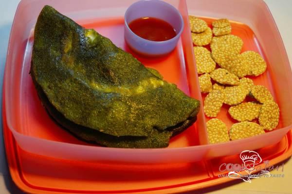 Cheesy Palak Cheela Recipe